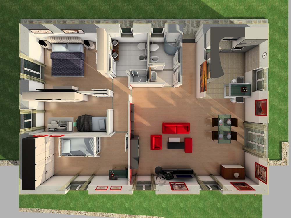 Villetta zoagli plurima elaborazioni grafiche for Progetti interni di case