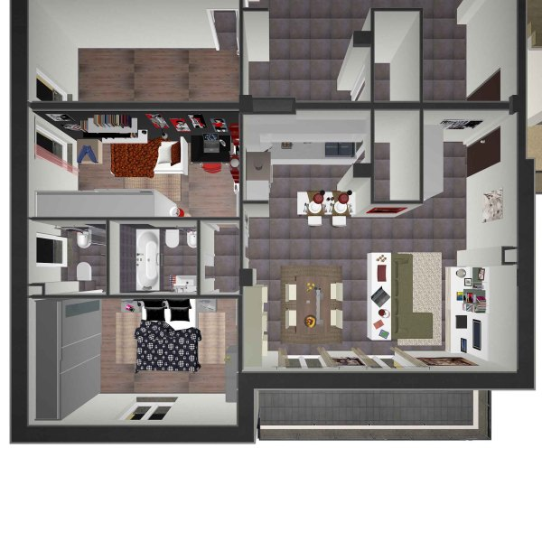 Palnivolumetrico appartamento