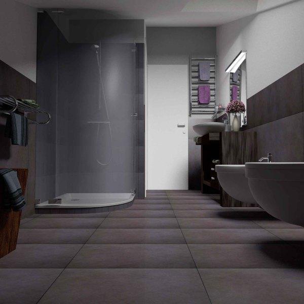 Appartamento piano attico plurima elaborazioni grafiche - Bagno nel sottotetto ...