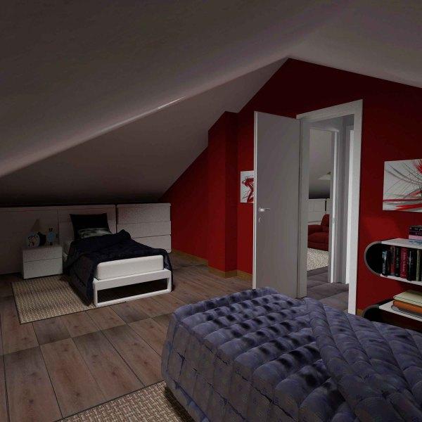 camera doppia sottotetto