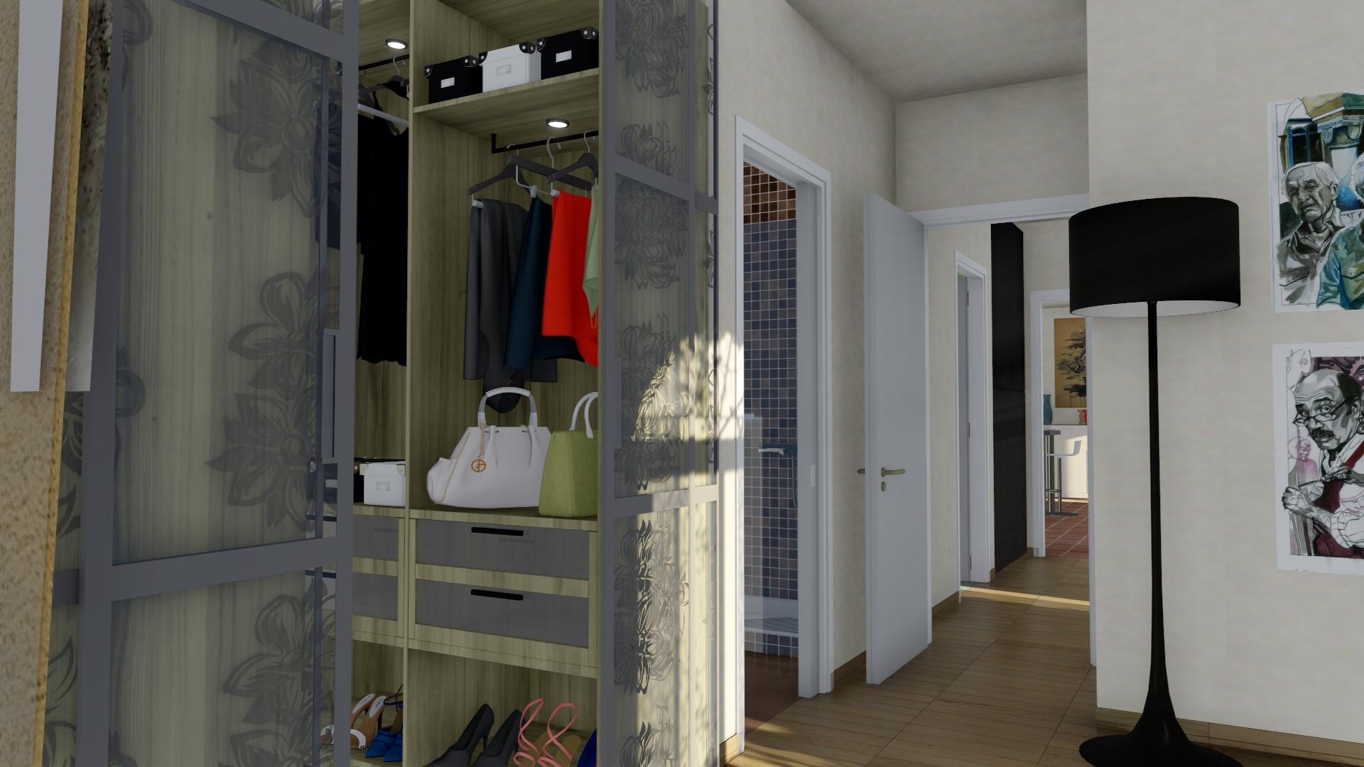 Camera matrimoniale con cabina armadio e bagno dedicato
