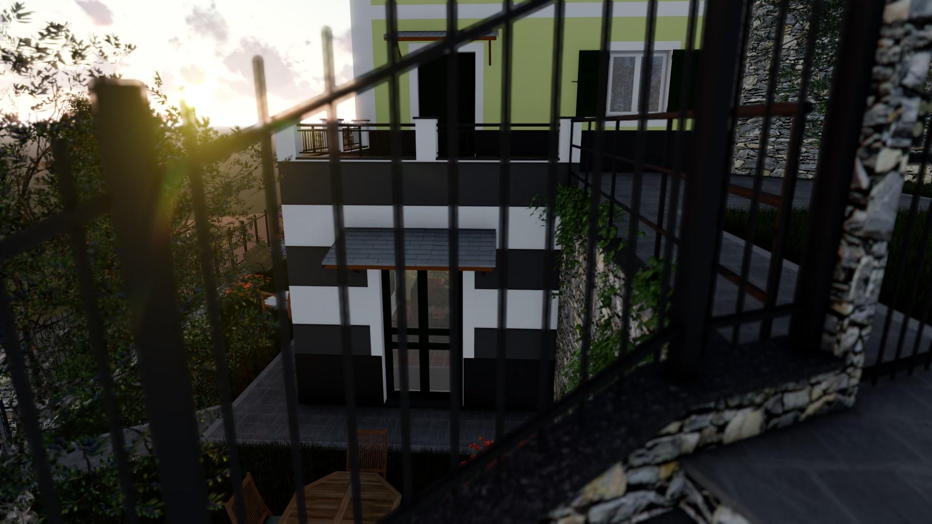 Vista esterna giardino e accesso